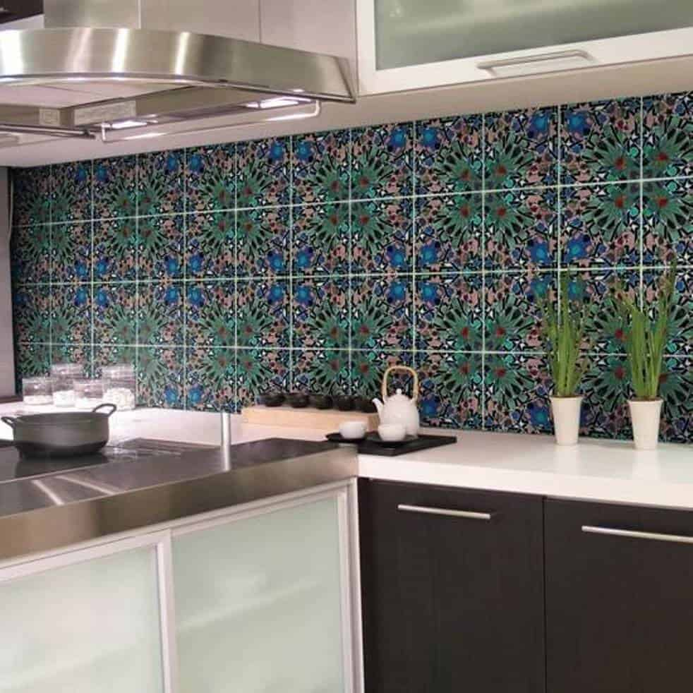Kitchen wall tiles image contemporary tile design magazine for Kitchen with wall tiles images