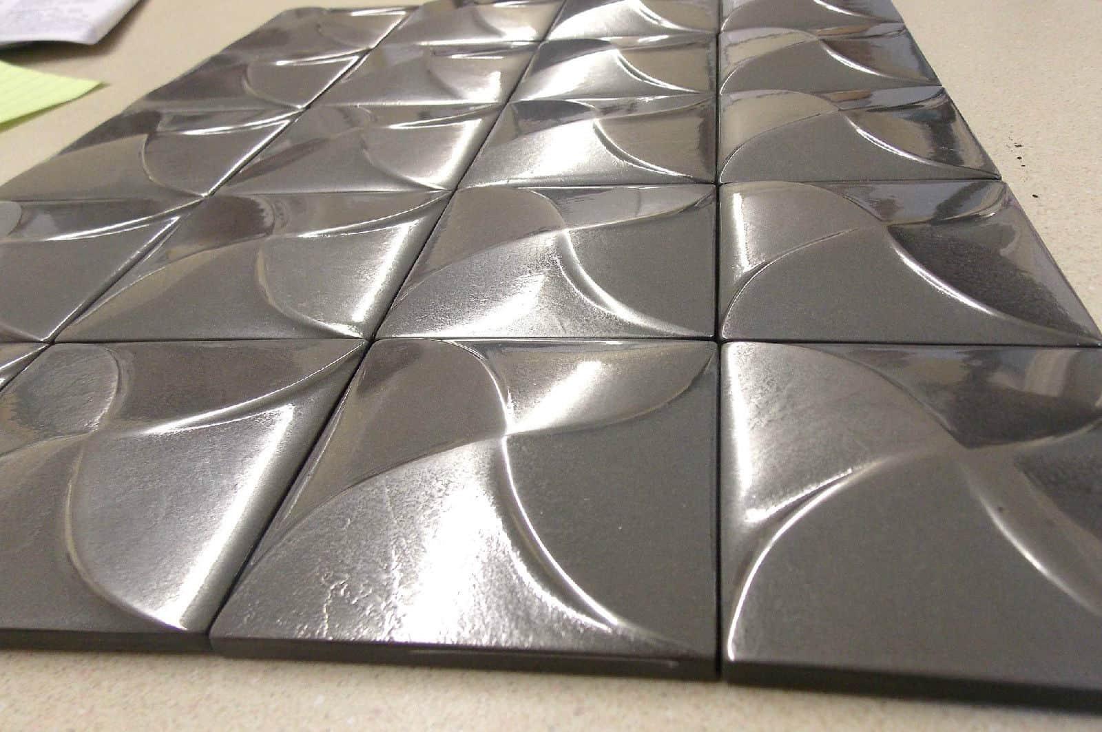metal wall tiles home design