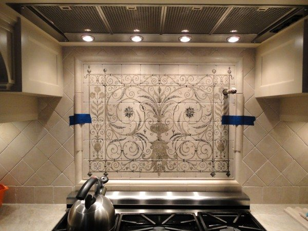 hand painted tiles interior design contemporary tile design