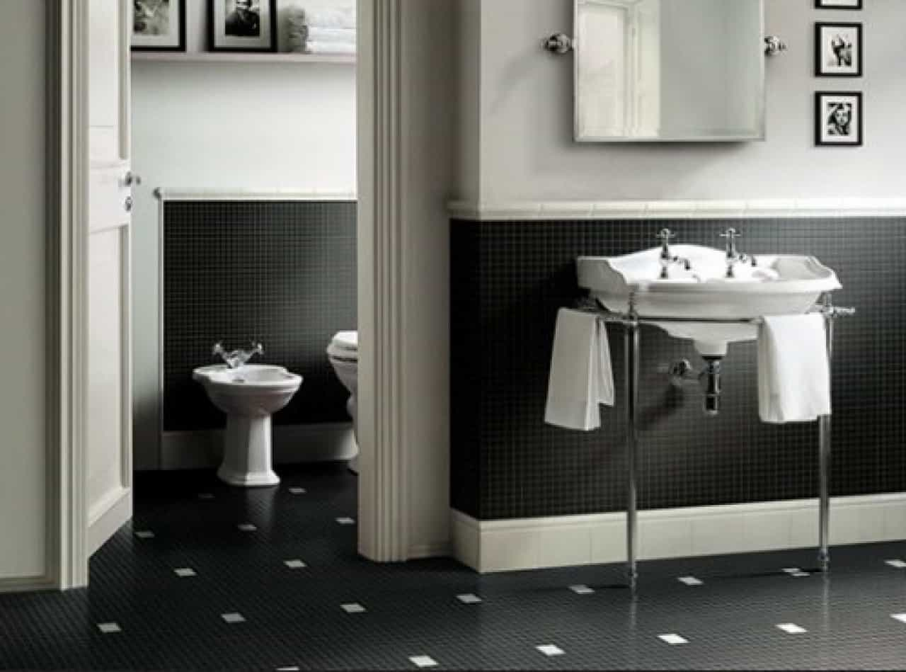 Black And White Floor Tiles Interior Design Contemporary Tile