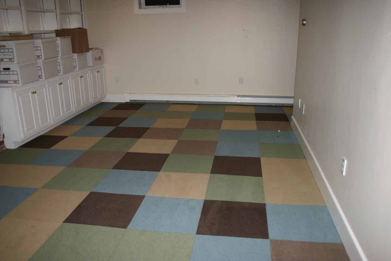 Carpet Tiles Basement Decoration