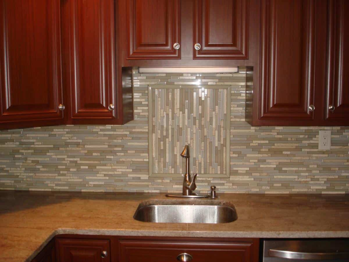 Glass Backsplash Tiles Example Contemporary Tile Design