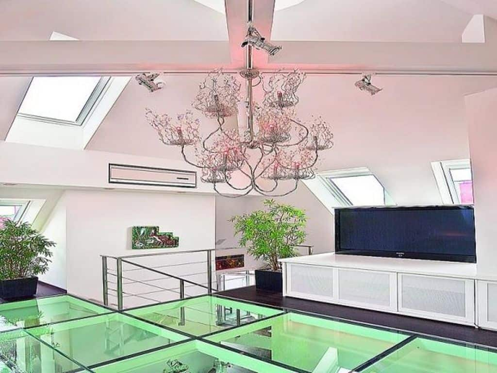 Glass floor tiles home design contemporary tile design for Home floor tiles design