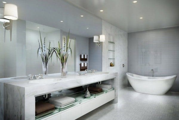 Marble Tile Bathroom Home Design