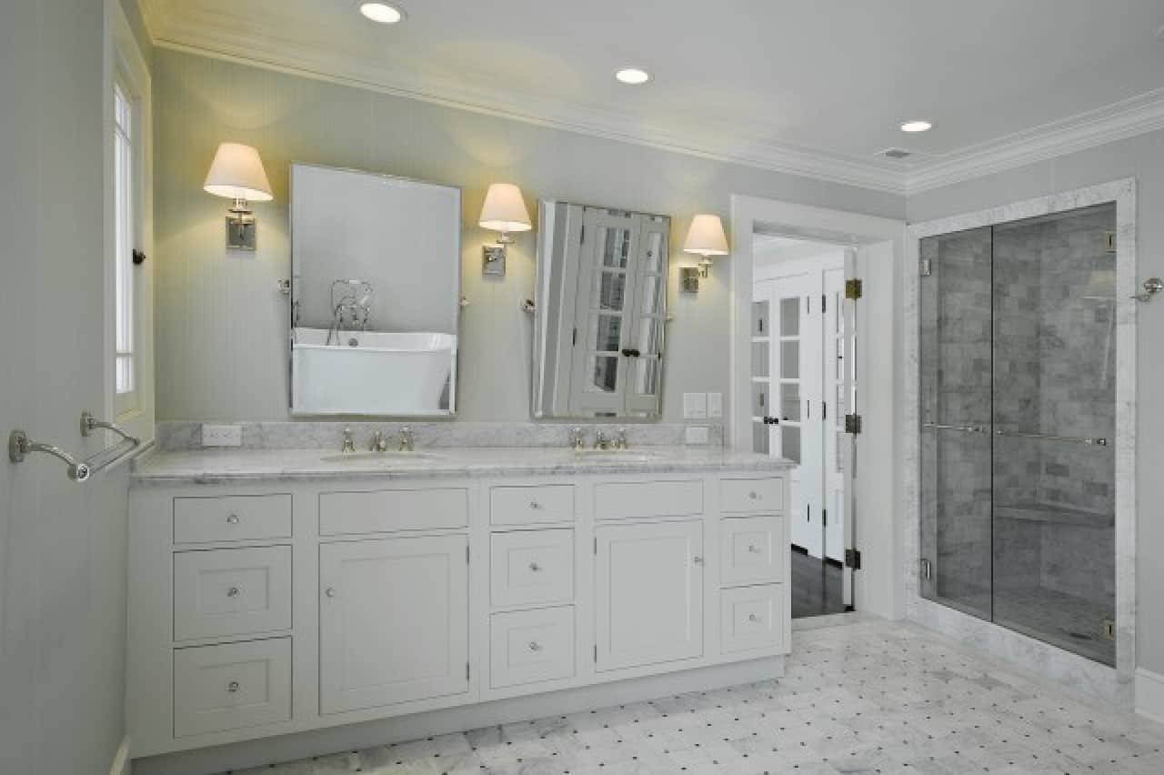 Marble Tile Bathroom Interior Design