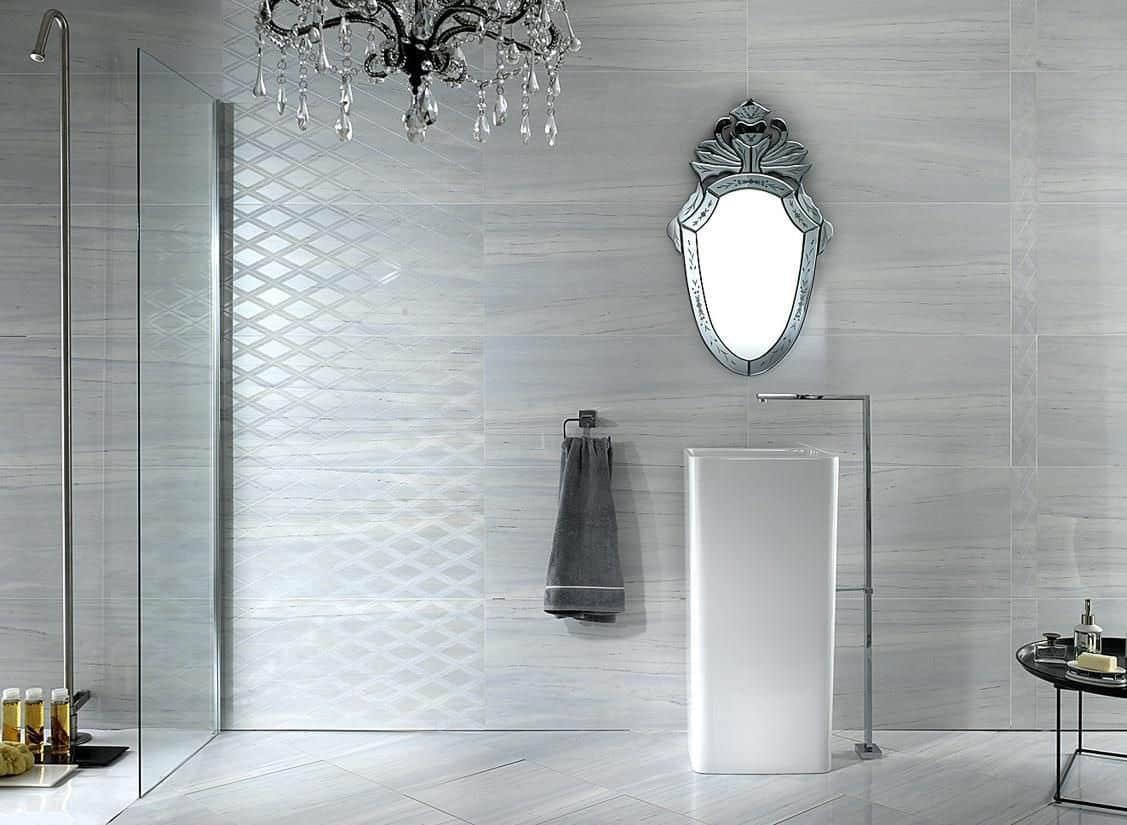 Marble Tile Bathroom Style