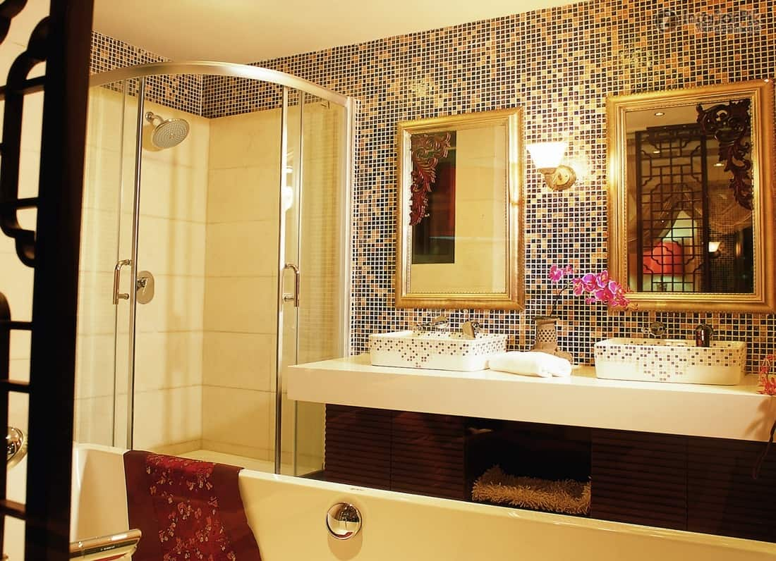 Wonderful Mosaic Bathroom Tiles Design Ideas