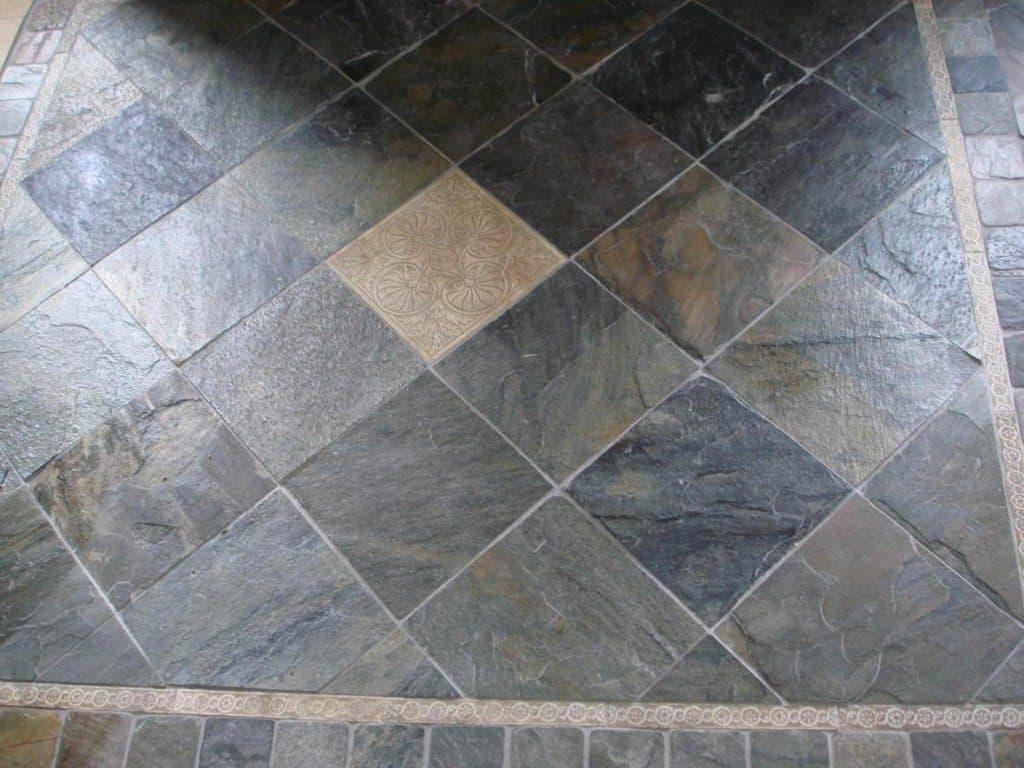 Outdoor Slate Tile Interior Design