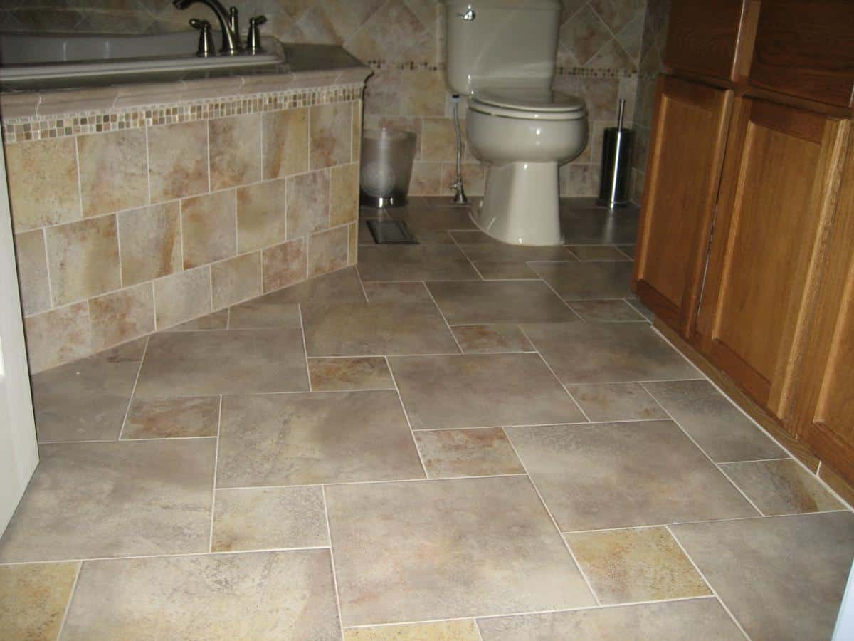 Porcelain Tile Flooring Example