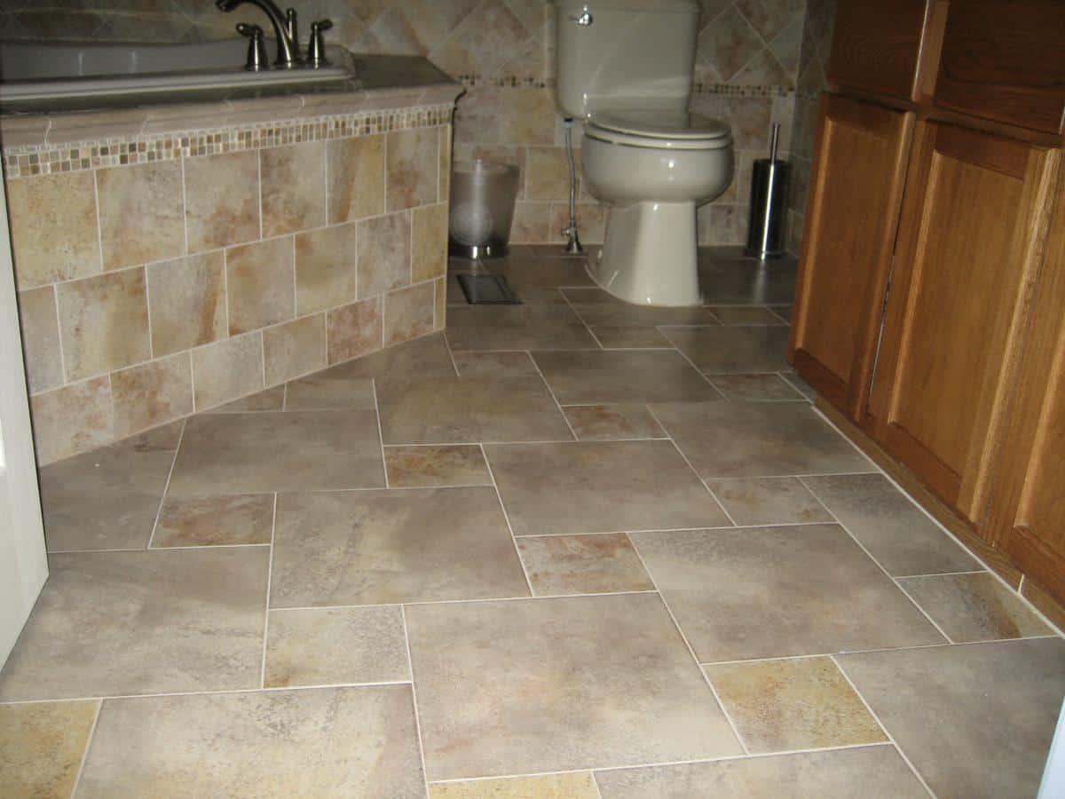 Porcelain Tile Flooring Example