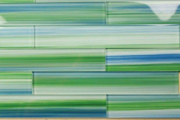 Green Glass Tile Design