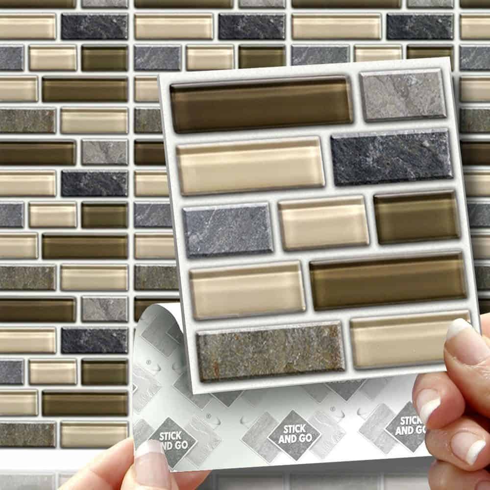 Tile stickers kitchen decoration contemporary tile for Bathroom tile stickers