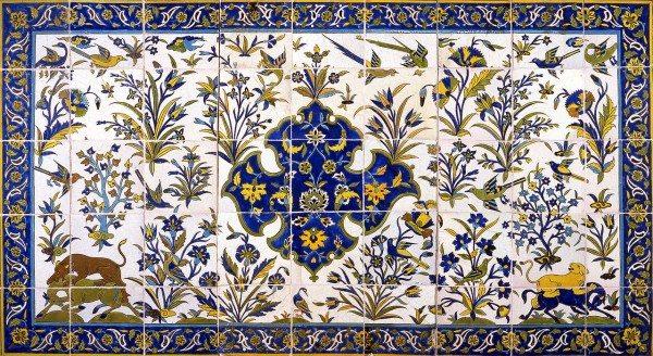 Painted Tiles Interior Design