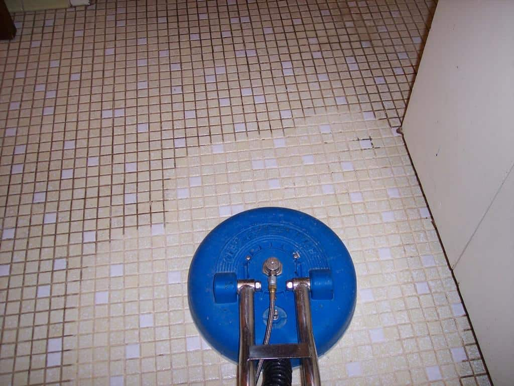 how to clean grout around tiles