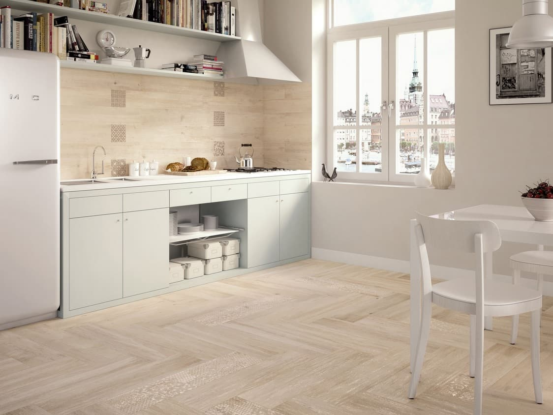 Kitchen floor tiles wood effect - Wood Effect Tiles That Have Been Forgotten Contemporary Tile Design Magazine