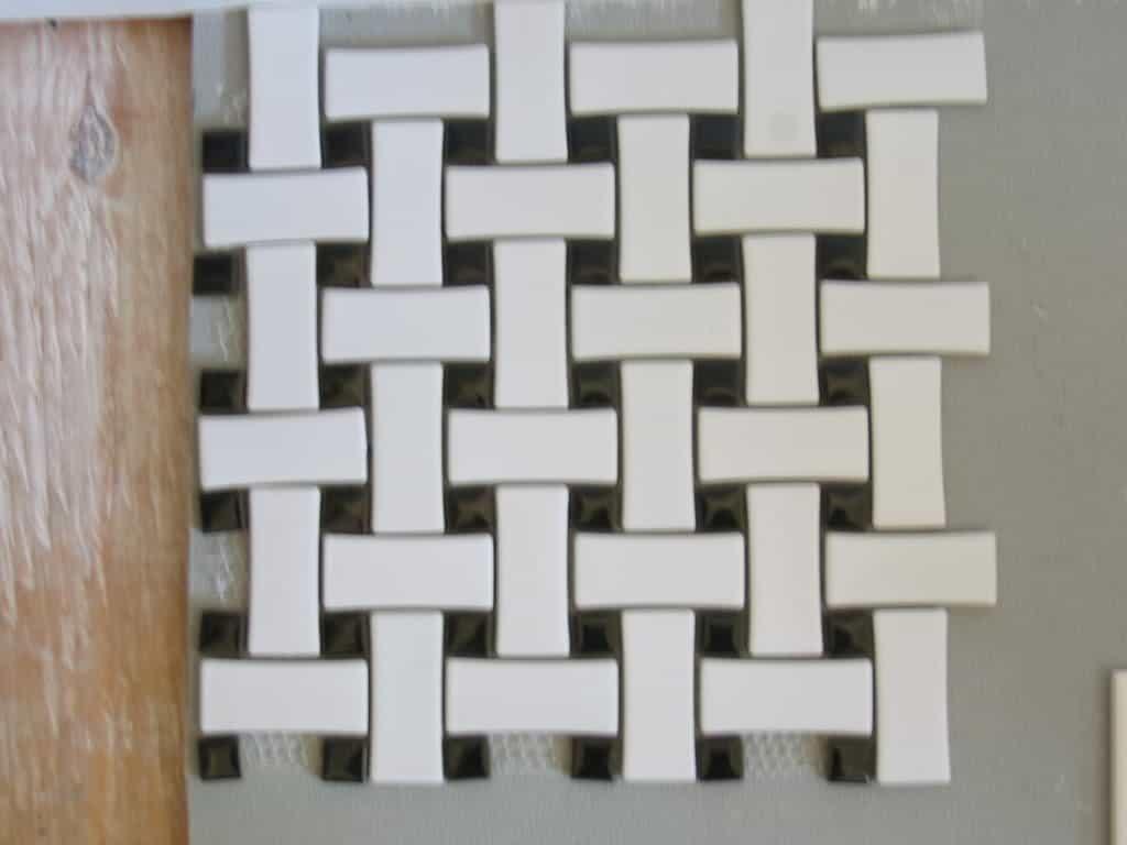 Porcelain basket weave floor tile ourcozycatcottage basketweave tile style contemporary design magazine doublecrazyfo Gallery