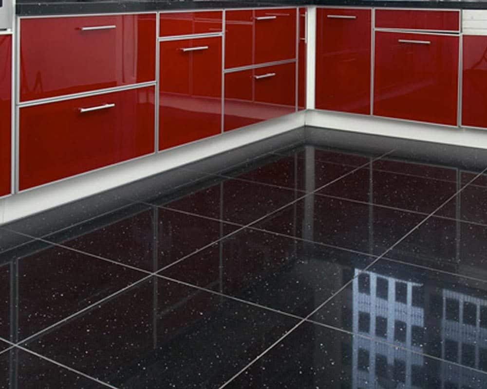 Black Sparkle Floor Tiles Decoration Contemporary Tile Design