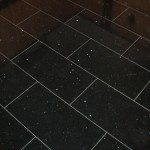 Black Sparkle Floor Tiles Design