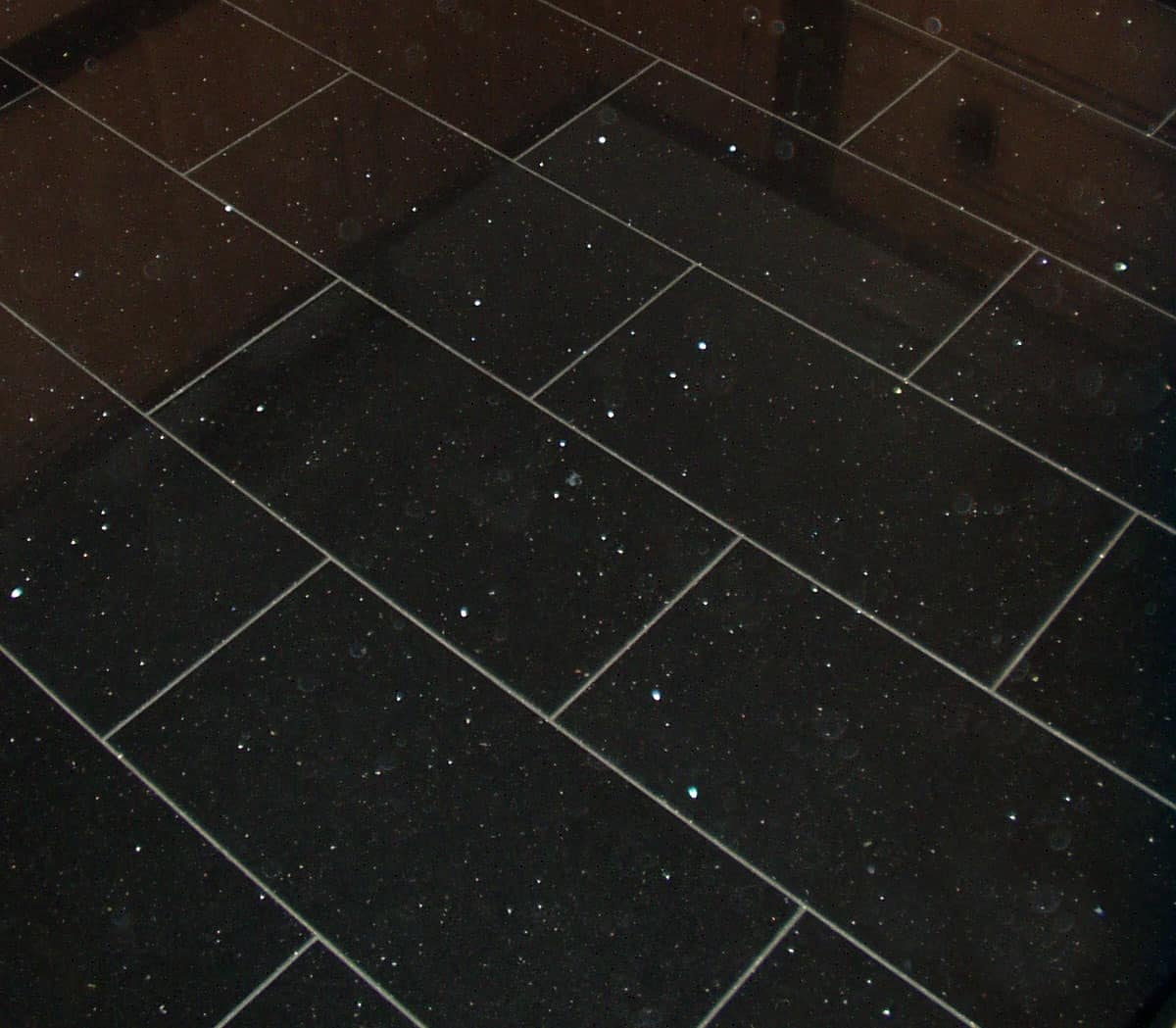 White Sparkle Kitchen Floor Tiles: Black Sparkle Floor Tiles Design