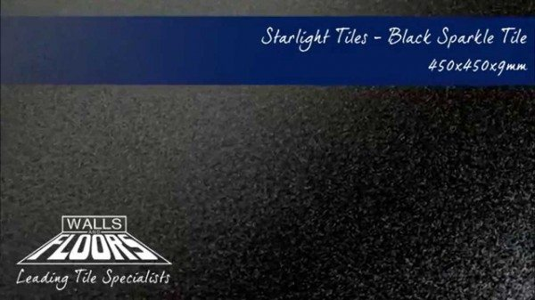 Black Sparkle Floor Tiles Example