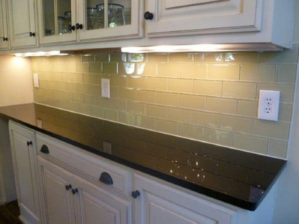 Glass Tiles Kitchen Home Design