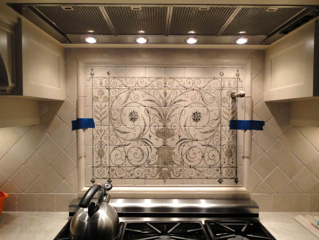 Hand Painted Tiles Interior Design Contemporary Tile