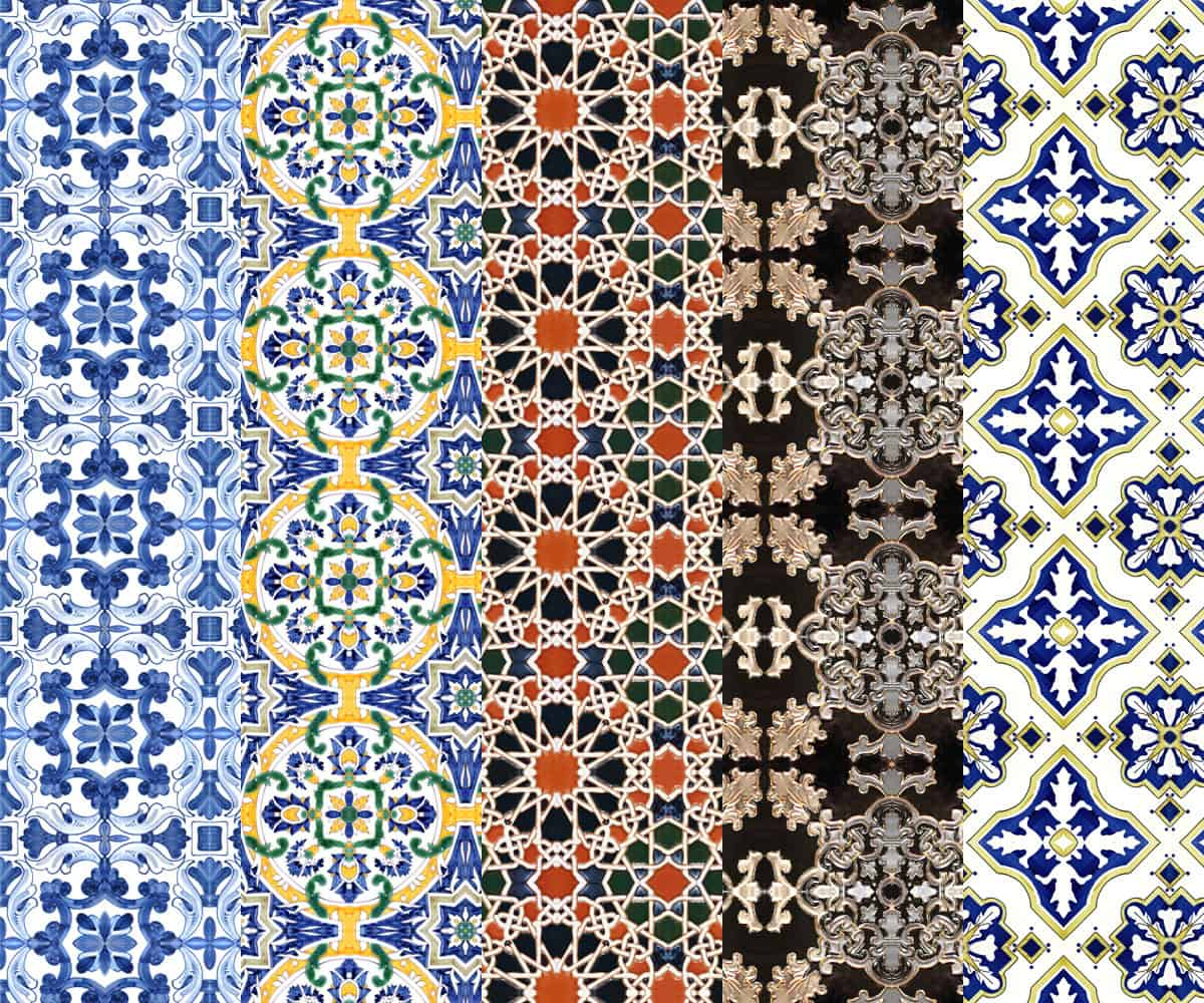 Old Tiles Style Contemporary Tile Design Ideas From