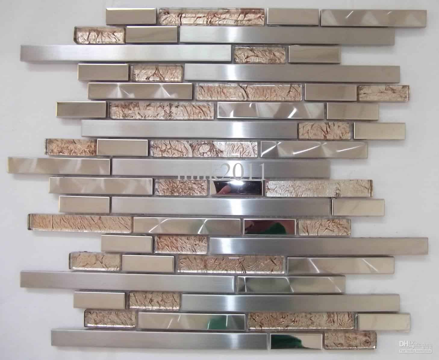 stainless steel tiles home design - Metal Tile Home 2015