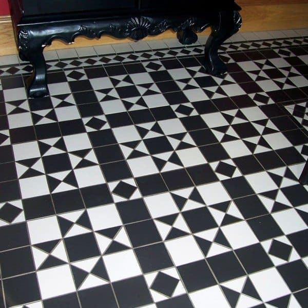 Black And White Floor Tiles Style