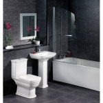 Black Bathroom Tiles Decoration