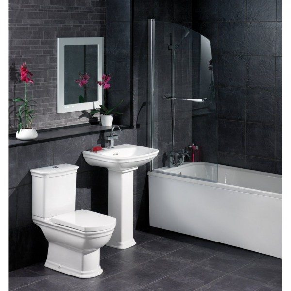 Black Bathroom Tiles Decoration
