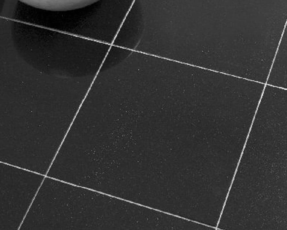Black vinyl floor tiles sparkle thefloors co for Black vinyl floor tiles