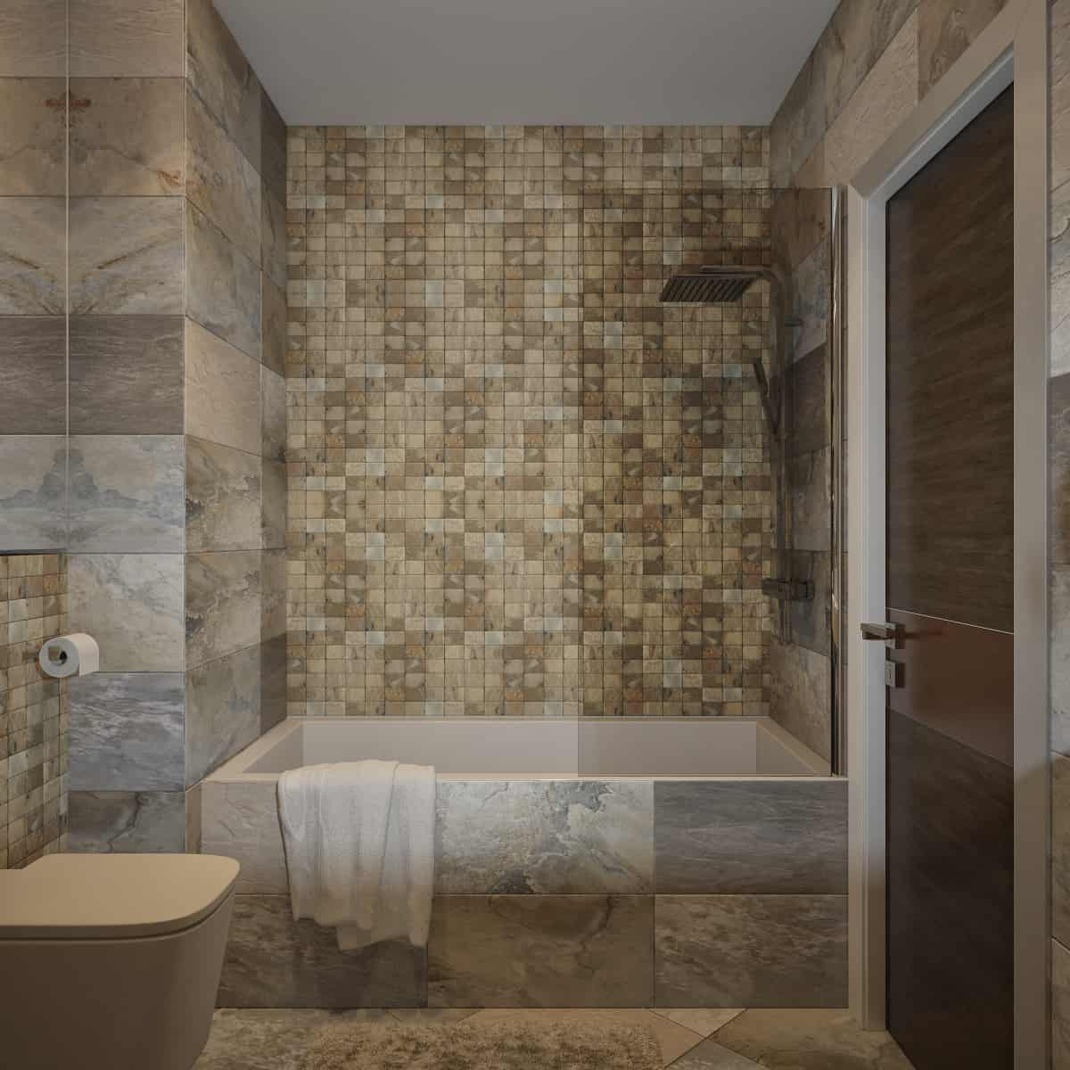 Bathroom Mosaic Tiles Decoration - Contemporary Tile ...