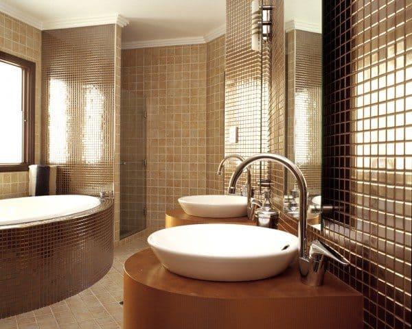 Bathroom Mosaic Tiles Interior Design