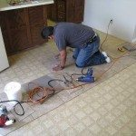 Laying Floor Tiles Decoration