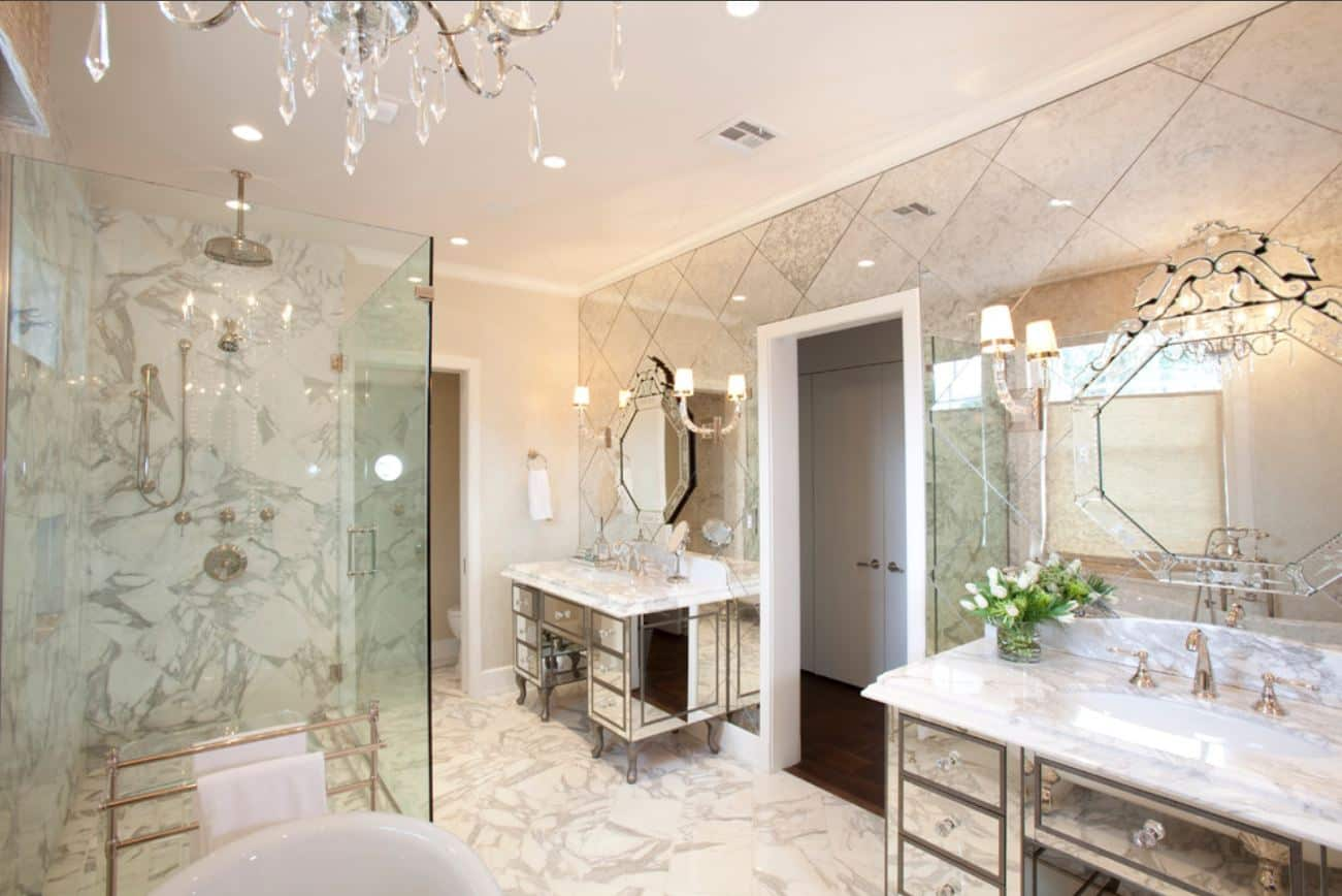 Mirror tiles decoration contemporary tile design ideas from around mirror tiles decoration freerunsca Image collections